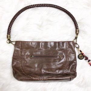 The Sak INDIO Demi brown leather shoulder bag